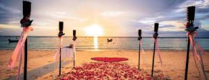 marissa and alexander sunset beachceremony haad yao